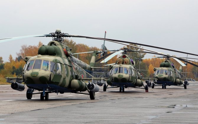New Mi-8 helicopters demonstrated to Belarus president