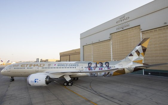 New Special Olympics livery ahead of World Games Abu Dhabi 2019 was unveiled by Etihad Airways