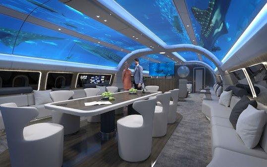 New World Traveller luxury design for long-haul aircraft