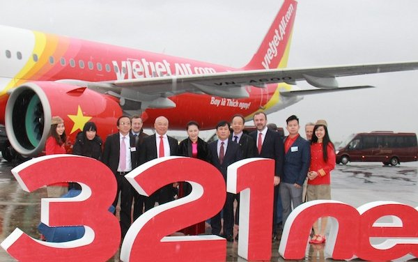 Nguyen Thi Kim Ngan joins Vietjet at ceremony in Toulouse, France to receive brand new A321neo