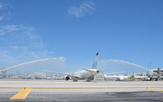 Norwegian's inaugural Miami arrival