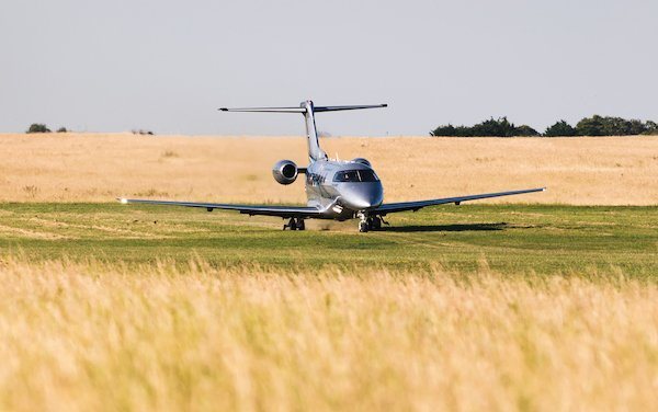 PC-24 Lands on Grass Runway in Goodwood for the Festival of Speed
