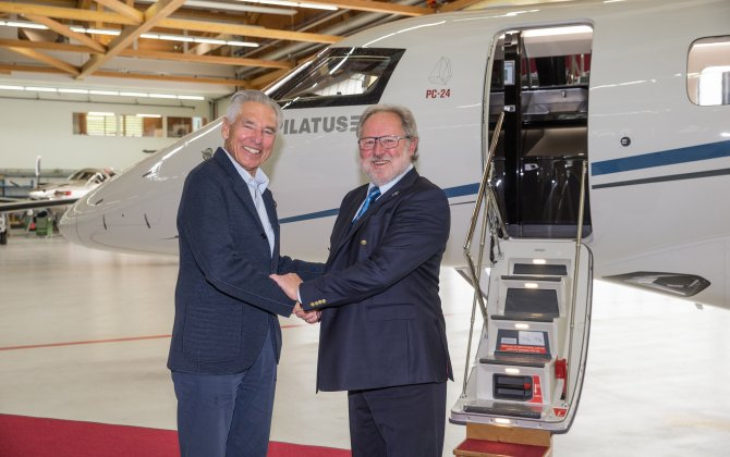Pilatus Hands Over PC-24 Super Versatile Jet to Peter Brabeck-Letmathe