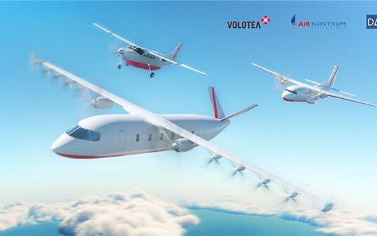 Plans for a first 100% Electric Aircraft - Volotea, Air Nostrum & Dante Aeronautical