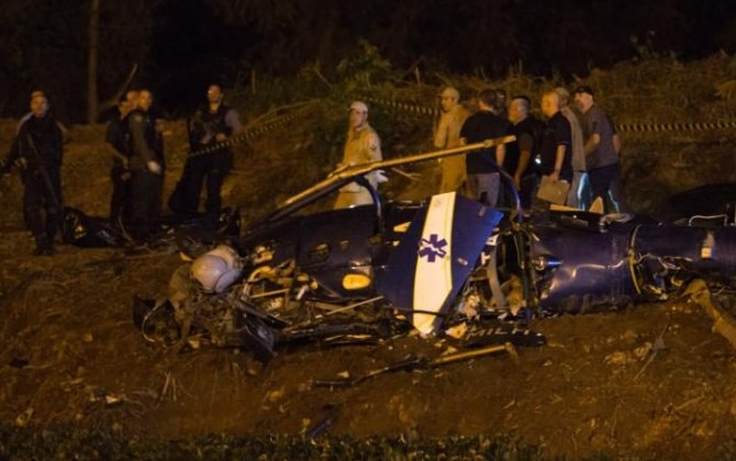 Police helicopter crashes, kills 4, after Rio shootout