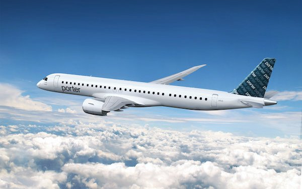 Porter Airlines signs aircraft support agreement with Embraer