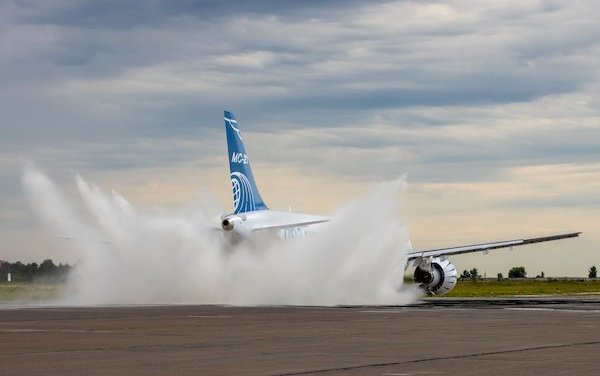 Preliminary results of MC-21-300 tests on engines protection against water penetration summed up