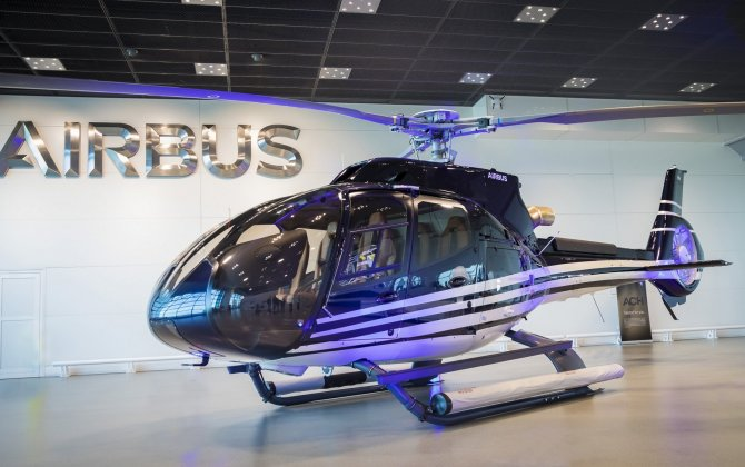 Public presentation of first ACH130 delivered since the launch of Airbus Corporate Helicopters