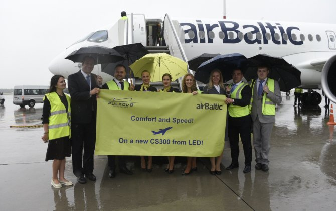 Pulkovo Airport Welcomes First airBaltic CS300