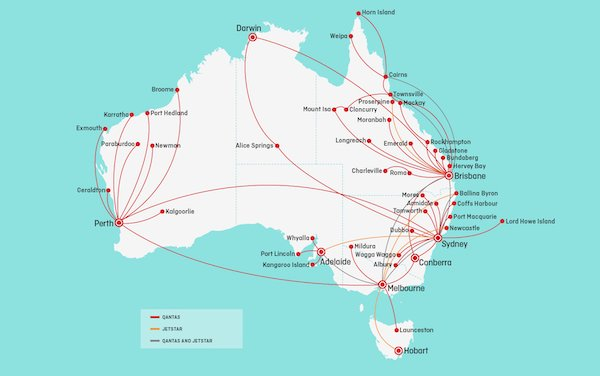 Qantas and Jetstar increase their domestic and regional flying