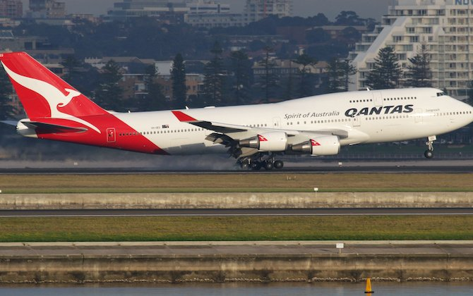 Qantas takes off for San Francisco