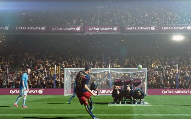 Qatar Airways Enlists FC Barcelona for Its New In-Flight Safety Video
