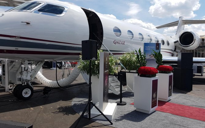 Qatar Executive First State-Of-The-Art Gulfstream G500 Jet at Farnborough International Airshow
