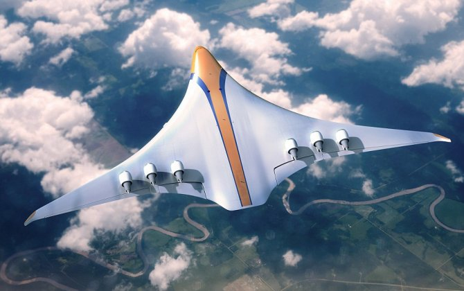 Radical Concept Plane Reveals What Air Travel May Look Like in 2050