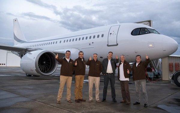 Record set during ACJ319neo test-flight
