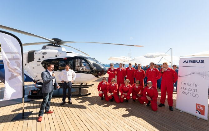 Red Arrows Support Handover to UK's HeliGroup of First ACH135 Helionix for VIP Charter