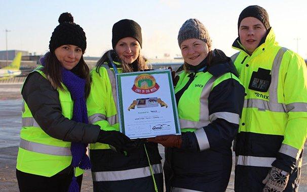 Riga Airport celebrates winning first Cake of the Week Award of 2016