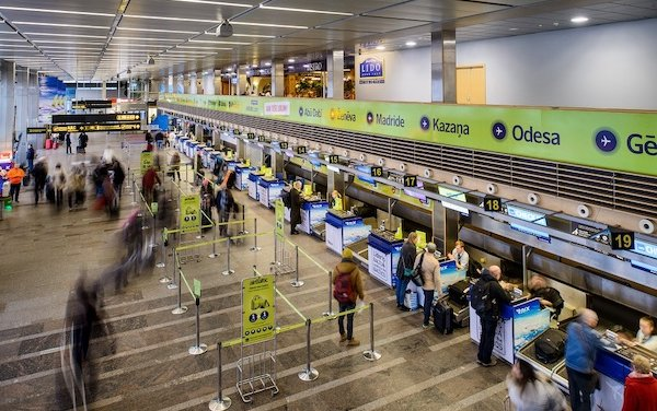 Riga Airport closes the year with a drop of more than 74% in passenger numbers