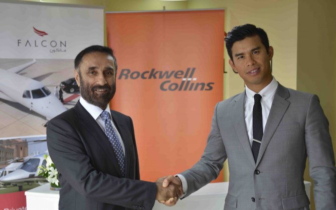 Rockwell Collins now providing automated check-in for Falcon Aviation's business jets and helicopters in Abu Dhabi