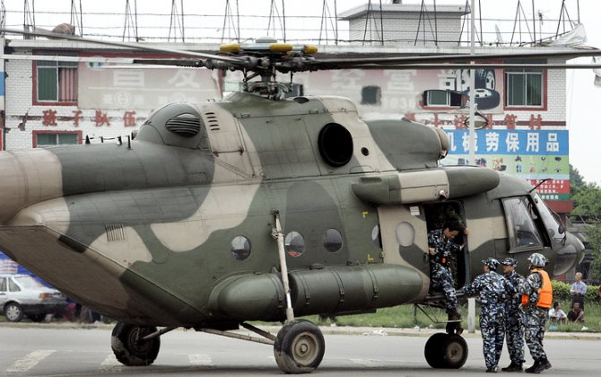 Russia manufactures two Mi-171 helicopters for China