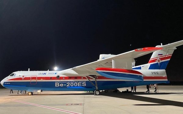Russian Be-200 amphibious aircraft will take up fire extinguishing duty in Turkey