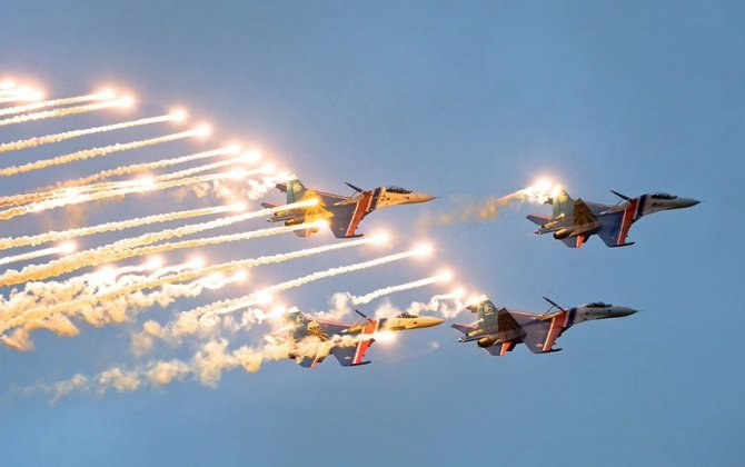 Russian Knights aerobatic team celebrates its 27th anniversary