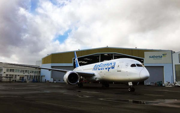 Sabena technics performed its first B787 C-Check