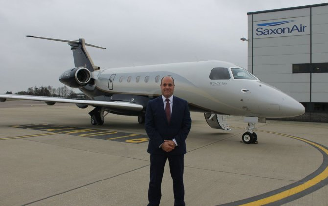 SaxonAir take delivery of the stunning Embraer Legacy 500