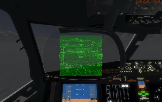 Scientific research on pilots - Head-Up Display Virtual-Reality training device