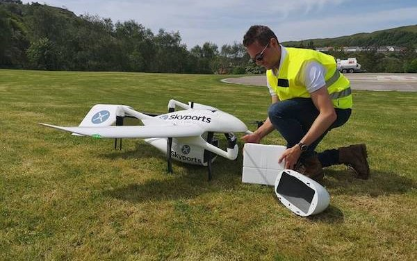 Skyports collaborates on space-enabled drone deliveries for NHS in Scotland
