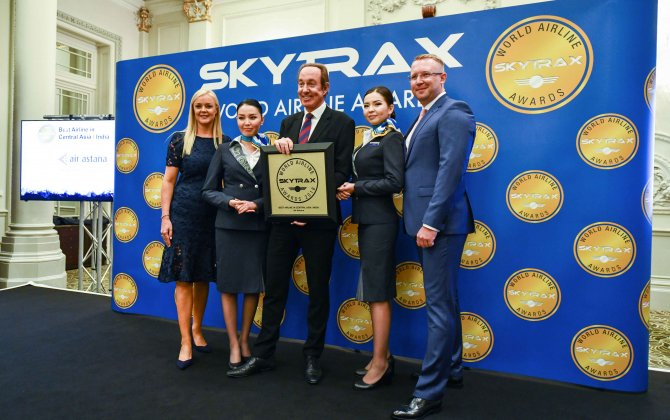 SKYTRAX WORLD AIRLINE AWARDS NAMES AIR ASTANA A WINNER SEVEN YEARS IN A ROW