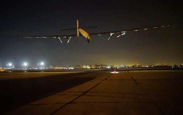 Solar Impulse 2 takes off for Abu Dhabi in final leg of round-the-world journey