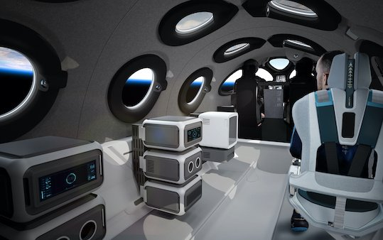 SpaceShipTwo Cabin Interior revealed by Virgin Galactic
