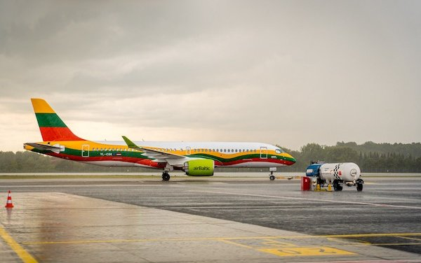 Special Lithuanian Airbus A220-300 Livery from airBaltic