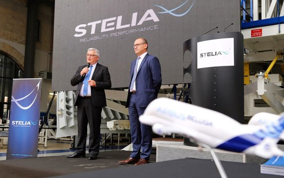 STELIA Aerospace celebrates the delivery of the first BelugaXL Upper Fuselage