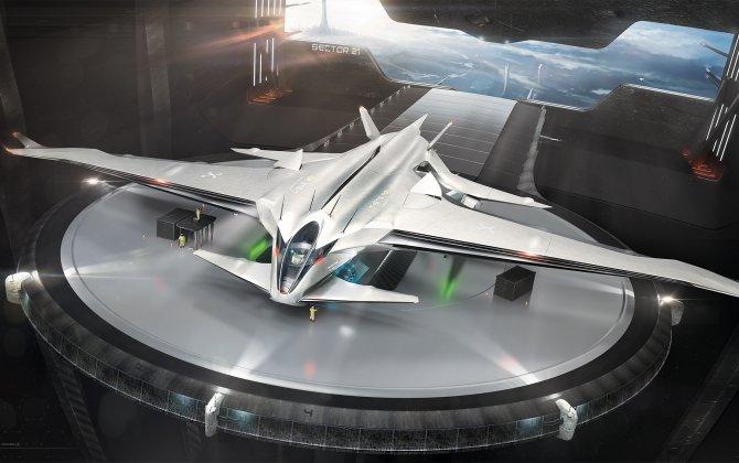 STS A01 Amphibian Jet: An Experimental Sci-Fi Concept Aircraft by Rene Gabrielli
