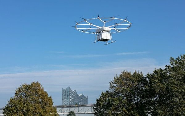 Successful first public flight of Volocopter VoloDrone in Hamburg