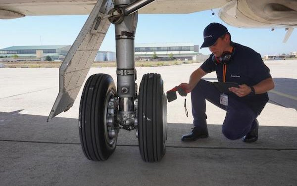 Successful flight tests of the first connected aircraft tire