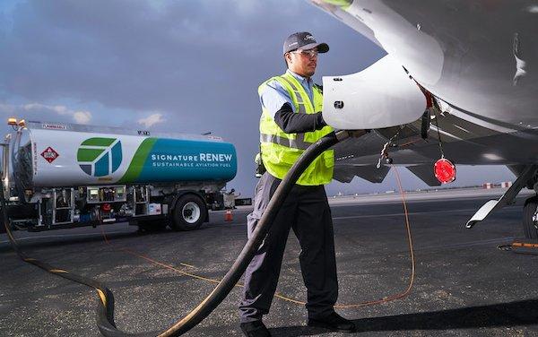Sustainability focus - Signature Flight Support launched renew book & claim program