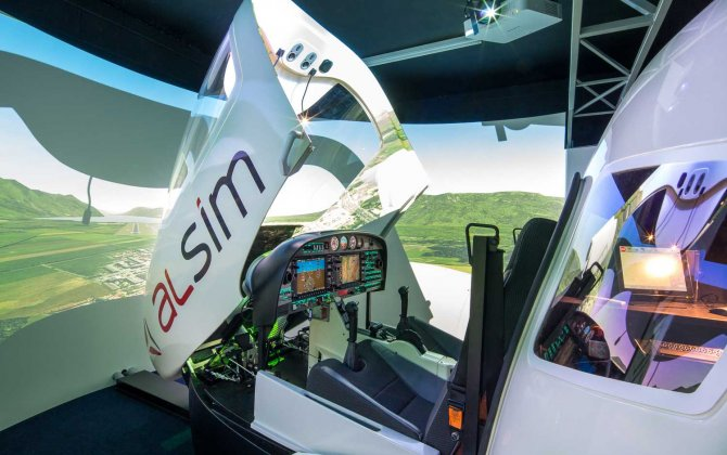 Swedish Stoflight Academy signs for an ALSIM AL42 Flight Simulator