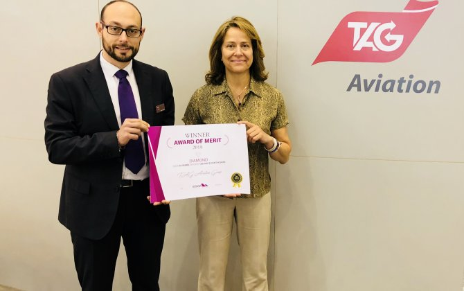 TAG Aviation Receives EBAA's Diamond Safety of Flight Award at EBACE 2018