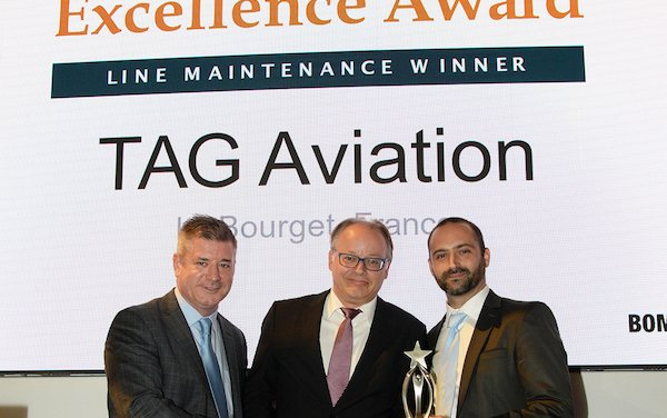 TAG Aviation's Le Bourget Maintenance Service Centre receives Bombardier ASF Line Maintenance Excellence Award for a Fourth Year