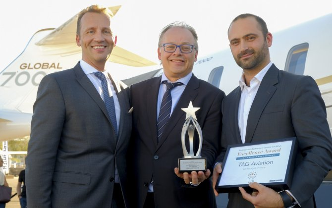 TAG Aviation's Le Bourget Maintenance Service Centre wins Bombardier ASF Line Maintenance Excellence Award 2017