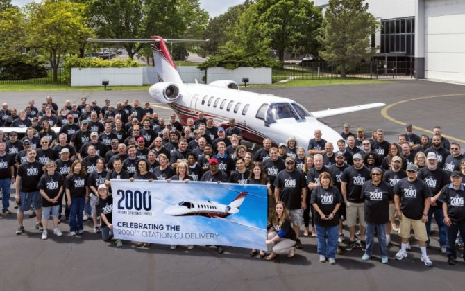 Textron Aviation celebrates light jet leadership with 2,000th delivery for Cessna CJ family