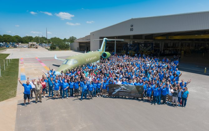 Textron Aviation rolls out first production Cessna Citation Longitude