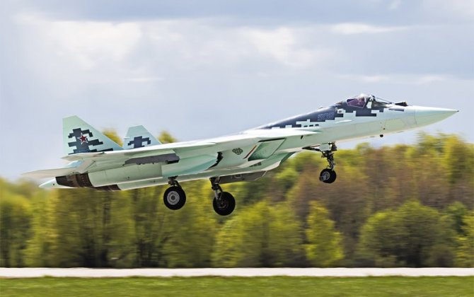 The 9th prototype of the PAK FA flew into the air