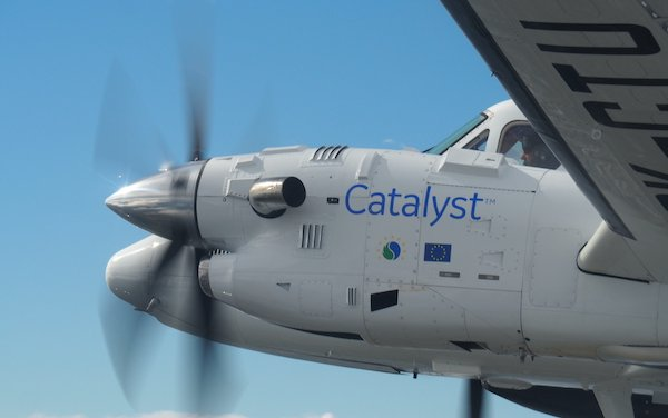 The first flight the Catalyst turboprop engine