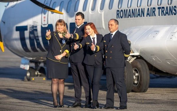 The first of nine TAROM ATR72-600 delivered