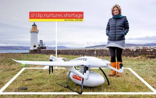 The first UK parcel carrier using drones to deliver a parcel