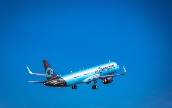 The inaugural transatlantic flight of La Compagnie's first A321neo